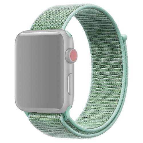 Ремешок для Apple Watch 1-6/SE нейлоновый 42/44 мм InnoZone - Бирюзовый/Голубой (APWTNY42-24)