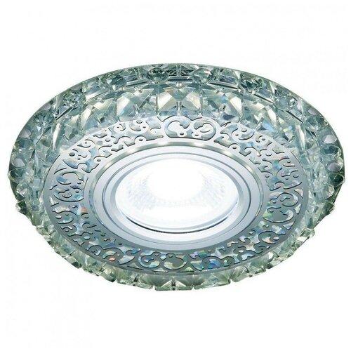 Фото - Встраиваемый светильник Ambrella light Crystal LED S393 CH, хром/прозрачный хрусталь встраиваемый светильник ambrella light s288 ch хром прозрачный