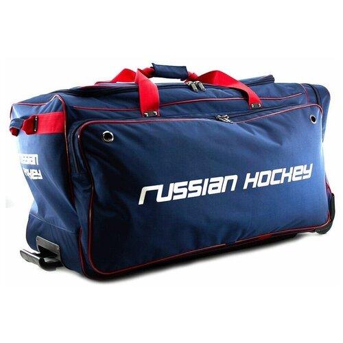 Баул хоккейный BITEX 24-975 сумка спортивная на колесах сине-красный полиэстер