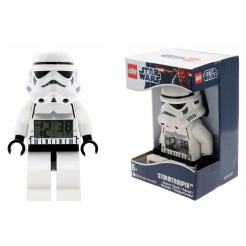 9002137 Будильник LEGO Star Wars, минифигура Storm Trooper ночники lego игрушка минифигура фонарь star wars штормтрупер