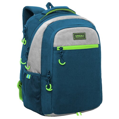 Купить Grizzly Рюкзак RU-132-4, синий, Рюкзаки, ранцы