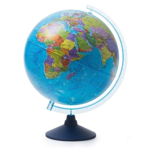 Фото - Globen Интерактивный глобус Земли политический, с подсветкой от батареек, 32 см., VR-очки в комплекте. globen глобус земли globen физический с подсветкой 150 мм