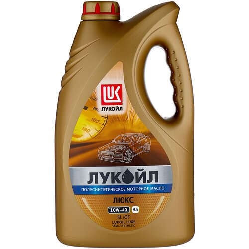Полусинтетическое моторное масло ЛУКОЙЛ Люкс полусинтетическое SL/CF 10W-40 4 л