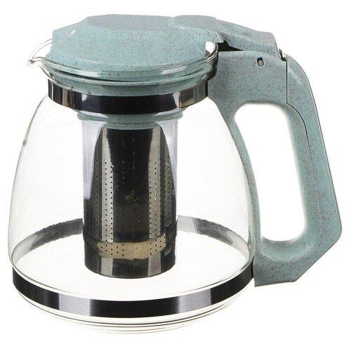 Фото - VETTA Чайник заварочный 1500мл, стекло,зеленый чайник заварочный 0 95л rose зеленый