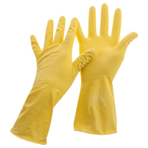Перчатки OfficeClean Универсальные, 12 пар, размер S, цвет желтый