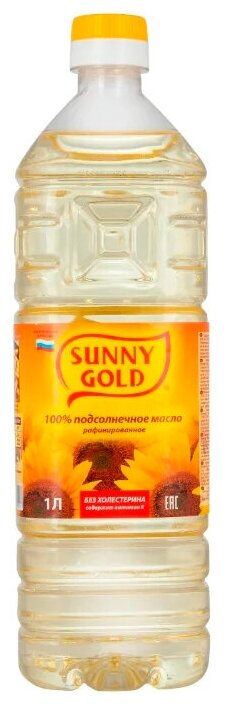 Sunny Gold масло подсолнечное рафинированное дезодорированное — купить по выгодной цене на Яндекс.Маркете