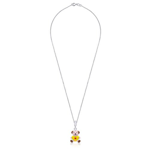 UMa & UMi Детский серебряный кулон подвеска Мишка с сердцем UMI Pets 319556300605