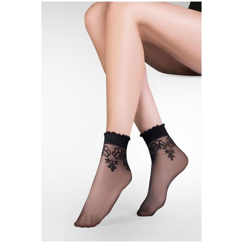 Капроновые носки Gabriella Bea 697, размер One size, nero