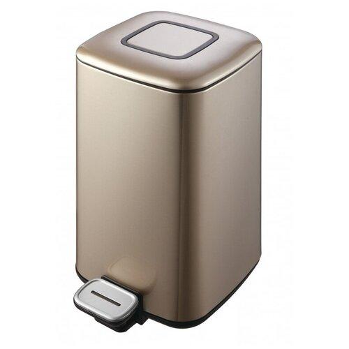 Ведро для мусора WeltWasser WW MILA CG 12L шампань золото ведро weltwasser ww mila 12 л белый