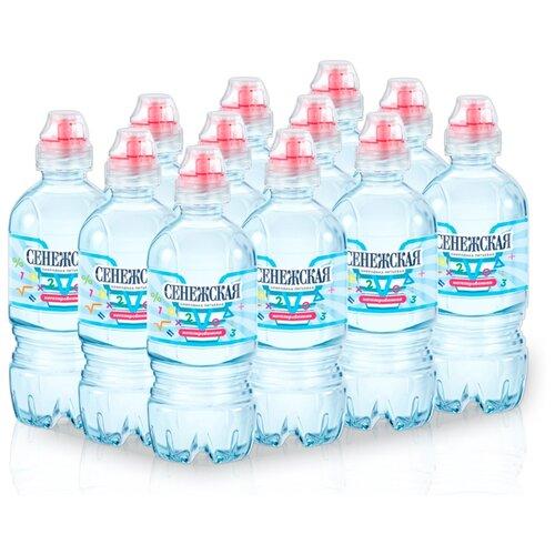 Вода минеральная Сенежская Kids негазированная, спорт ПЭТ, 12 шт. по 0.35 л вода минеральная сенежская негазированная пэт 1 5 л