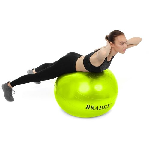 Фото - Мяч для фитнеса «ФИТБОЛ-65» Bradex SF 0720 с насосом, салатовый мяч для фитнеса bradex фитбол 75 с насосом sf 0187