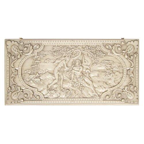 Ustyan Нарды + шашка резные Адам и Ева фигура адам и ева большая белый 23х38х70см 1076619