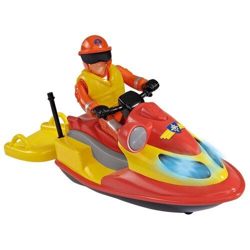 Фото - Гидроцикл Dickie Toys Пожарный Сэм Джуно с фигуркой и аксессуарами (9251662), красный/желтый гидроцикл dickie toys пожарный сэм джуно с фигуркой и аксессуарами 9251662 красный желтый