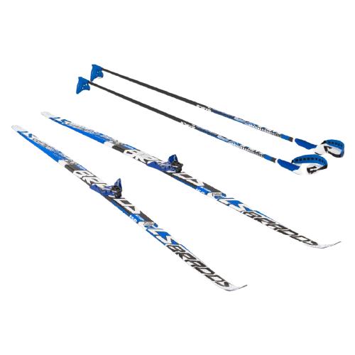 Фото - Беговые лыжи STC NN75 Step Brados LS с креплениями, с палками blue 170 см беговые лыжи stc step kid combi черный белый желтый 110 см