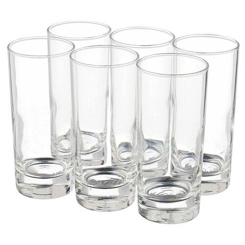 METRO PROFESSIONAL Набор стаканов Lario высоких 220 мл, 6 шт прозрачный