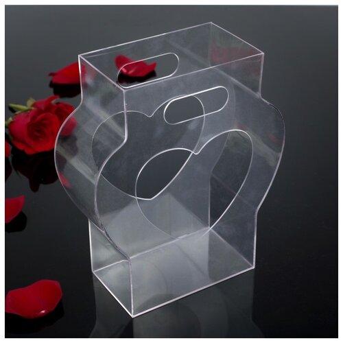 Переноска для цветов из оргстекла 21,5 х 8,5 х 26 см 2947836