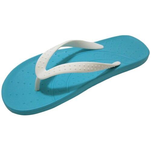 Шлепанцы Crocs Chawaii Flip, размер 36-37(M4/W6), белый/голубой шлепанцы crocs crocband flip размер 36 37 m4 w6 navy
