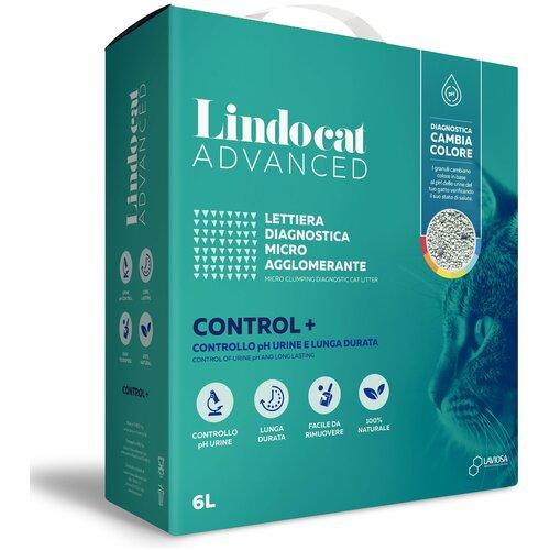 Комкующийся наполнитель LindoCat Advanced Control + диагностический, с контролем уровня РН, 6 л