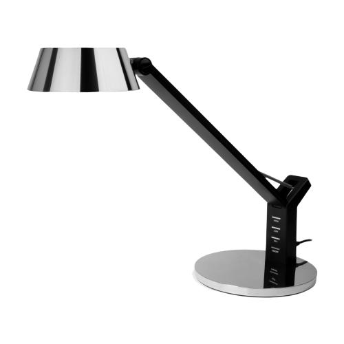 Настольная лампа светодиодная Eurosvet Slink 80426/1 черный/серебро, 8 Вт