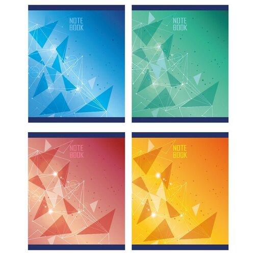 Купить Тетрадь общая А5, 48л, кл, скоб, блок-офсет-2 Attache Galaxy син/зел/жел/красс 8 штук, Тетради