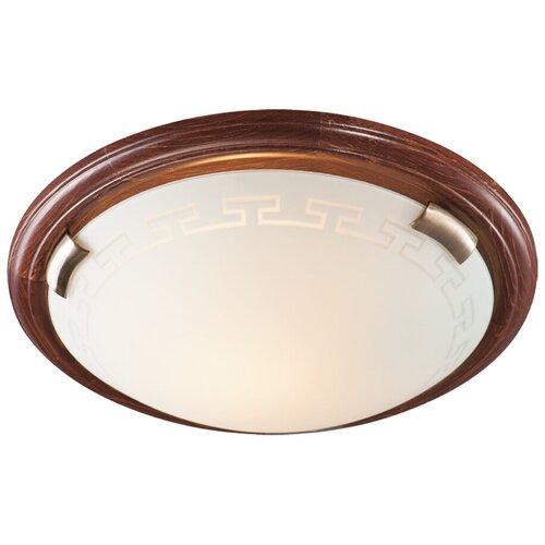 Настенно-потолочный светильник Сонекс Greca Wood 360, E27, 300 Вт, кол-во ламп: 3 шт., цвет арматуры: коричневый, цвет плафона: белый светильник без эпра сонекс greca 361 d 50 см e27