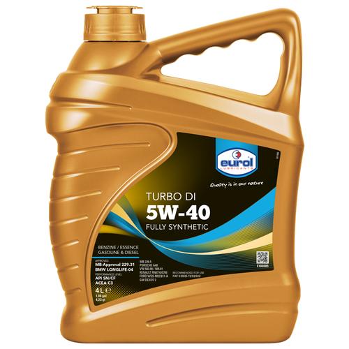 Синтетическое моторное масло Eurol Turbo DI 5W-40, 4 л по цене 2 344