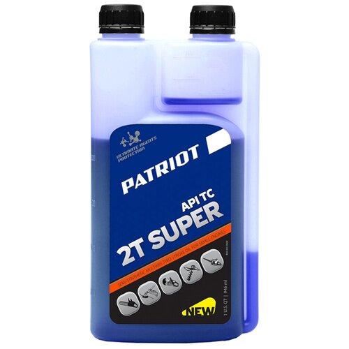 Масло для садовой техники PATRIOT Super Active 2T (с дозатором), 0.946 л масло patriot super active 2t 0 946л 850030596