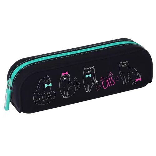 Купить Berlingo Пенал Cats (PM07150) черный, Пеналы
