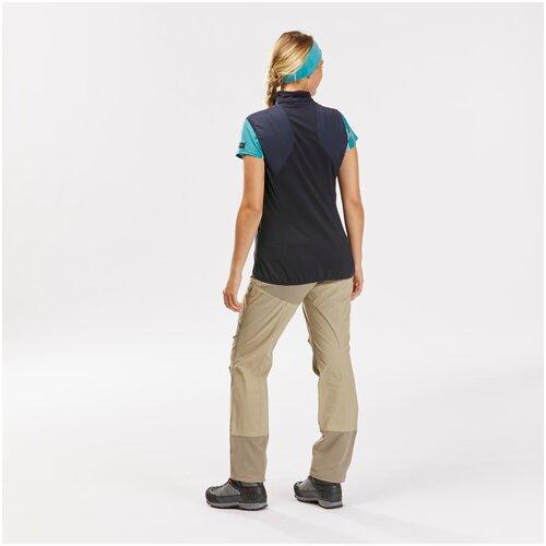 Жилет для треккинга в горах ветрозащитный - TREK 500 женский, размер: XS, цвет: Синий Графит/Асфальтово-Синий FORCLAZ Х Декатлон