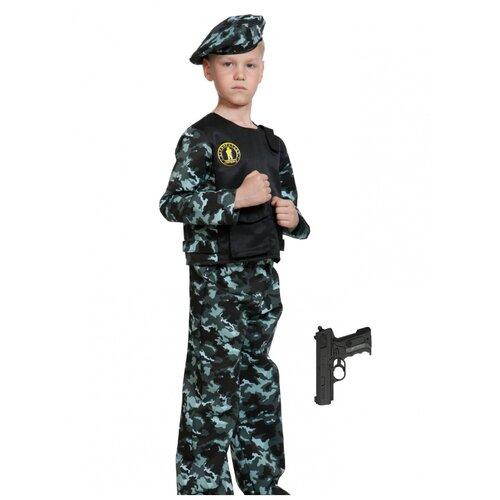 Купить Костюм 'Спецназ-3 с пистолетом', размер 134-140 см., КарнавалOFF, Карнавальные костюмы