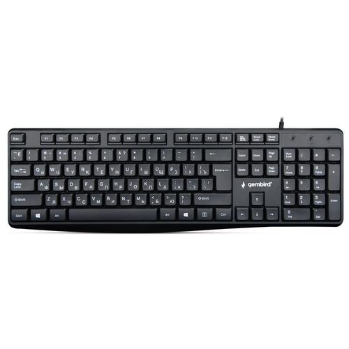 Клавиатура проводная Gembird KB-8410 black (USB,, шоколадный тип клавиш, 104 кл., кабель 1,5м) (KB-8410)