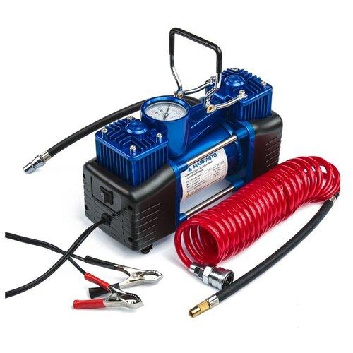 Компрессор автомобильный Торнадо АС-625ма, двухпоршневой, инструменты, 60 л/мин, 216 W 12 В 3390559