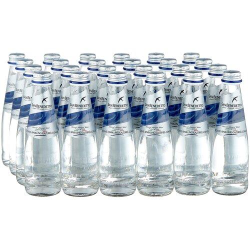 Минеральная вода San Benedetto газированная, стекло, 24 шт. по 0.25 л вода san bernardo газированная 1 л