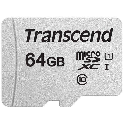 Фото - Карта памяти Transcend microSD 300S Class 10 UHS-I U1 A1 64 GB, чтение: 100 MB/s, запись: 25 MB/s карта памяти sdhc 32gb transcend class10 uhs i