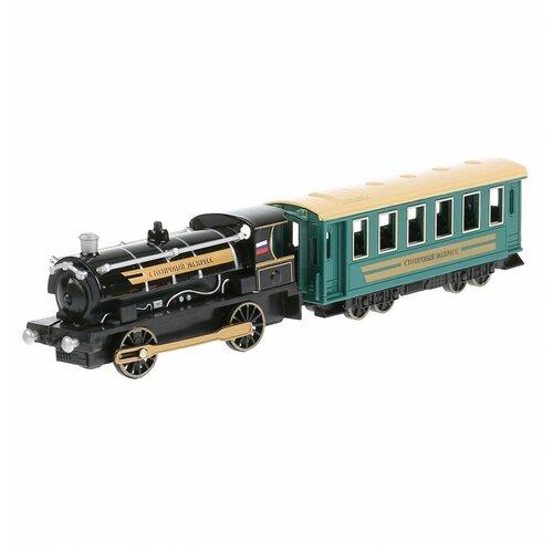 Модель Технопарк Поезд с вагоном инерционная 298074