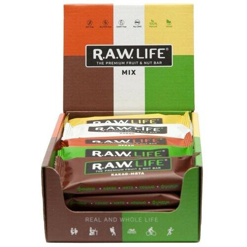 Фото - Фруктовый батончик R.A.W. Life без сахара Mix Classic, 20 шт фруктовый батончик r a w life без сахара кешью 47 г