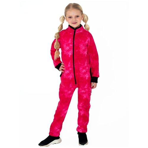 Купить Комбинезон розовый мрамор 86 размер, Дашенька, Теплые комбинезоны