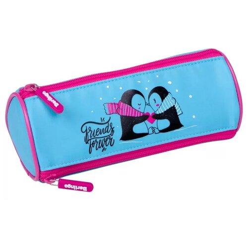 Купить Berlingo Пенал Penguin (PM07133) голубой/розовый, Пеналы