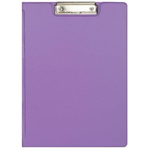 Купить Папка планшет Attache с зажимом и крышкой, Bright colours, A4, сиреневый (1209648), Файлы и папки