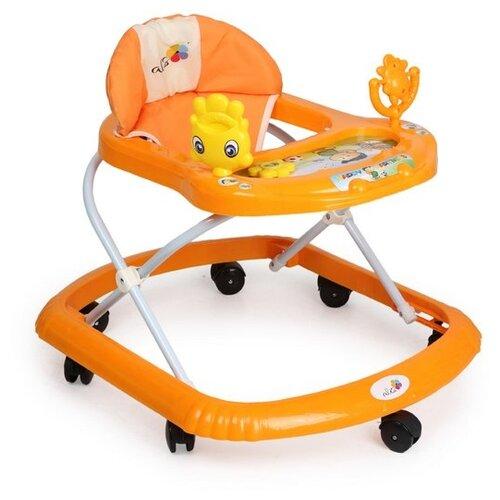 Купить Ходунки Солнышко С , 7 колес, муз. игрушки, колеса силикон (упак.7 шт.) (Alis) (-оранжевый), Ходунки, прыгунки
