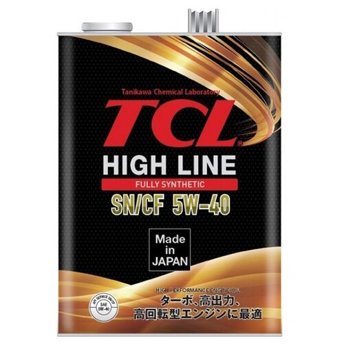 Синтетическое моторное масло TCL High Line 5W-40 SN/CF, 4 л синтетическое моторное масло rixx tp x 5w 40 sn cf a3 b4 4 л