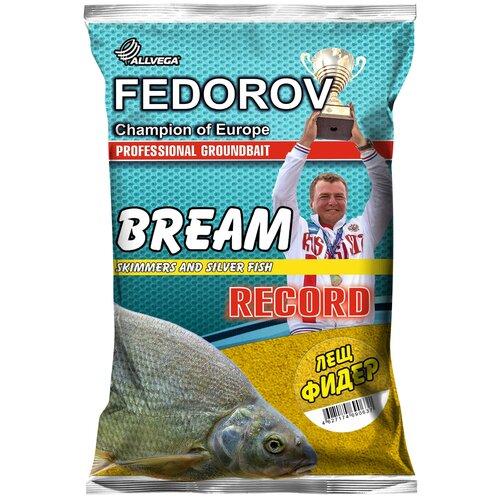 Прикормочная смесь ALLVEGA Fedorov Record Лещ фидер 1000 г коричневый