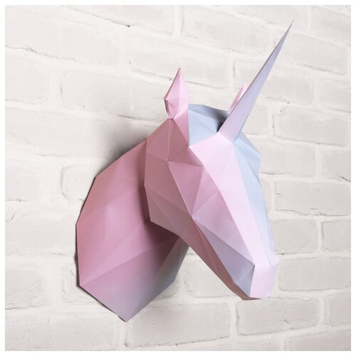 Купить Набор для создания полигональной фигуры «Единорог», 32, 5 х 44 см 4155176, Сима-ленд, Поделки и аппликации