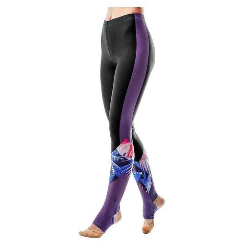 Фото - Леггинсы Grace Dance размер 38, черный/фиолетовый леггинсы grace dance размер 46 черный фиолетовый