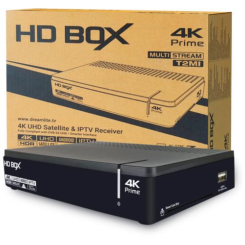 Фото - Спутниковый ресивер HD BOX Prime 4K спутниковый ресивер телекарта m1