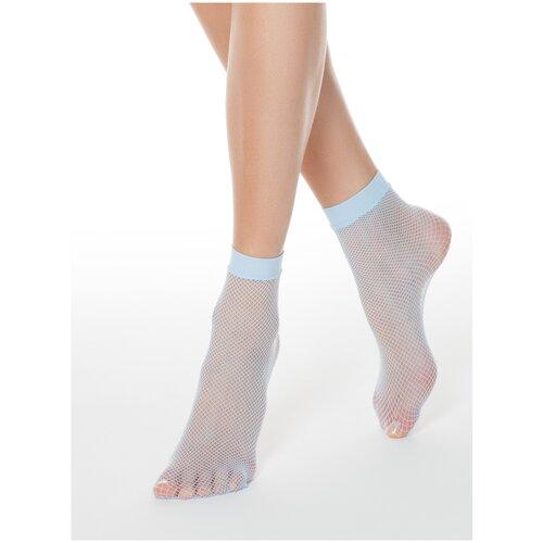 Капроновые носки Conte Elegant 17С-177СП, размер 23-25, light blue