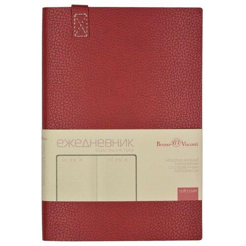 Купить Ежедневник недатированный A5, 136 л., 147Х214мм, TREND (бордовый), Bruno Visconti, Ежедневники