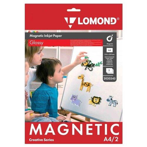 Фото - Бумага Lomond A4 Magnetic Paper 2020345 660 г/м² 2 лист., белый бумага lomond а4 2210003 самоклеящаяся 90 г м² 25 лист 1фр