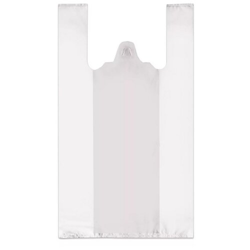 Пакет-майка OfficeClean Звёзды ПНД, 30х60 см, 15 мкм белый 100 шт.