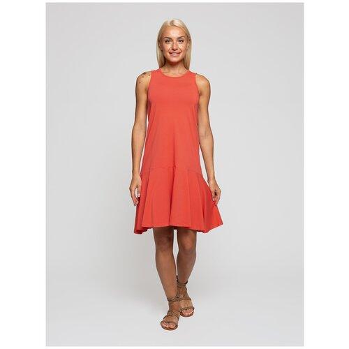 Женское легкое платье сарафан, Lunarable гранатовое, размер 50
